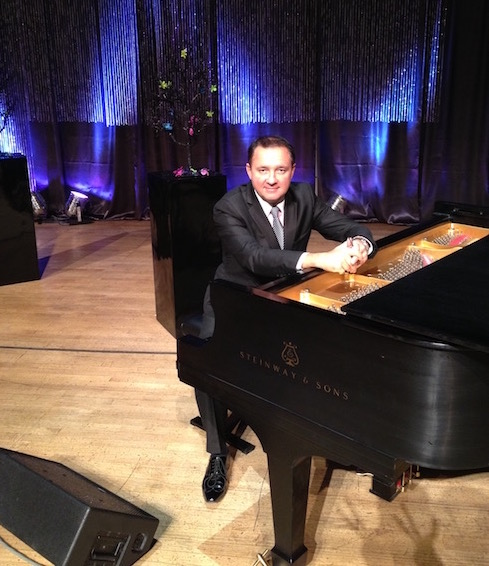 Pianist from Calgary Egor Ukoloff with Canadian Tenors
